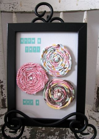 Show and tell fabric flowers