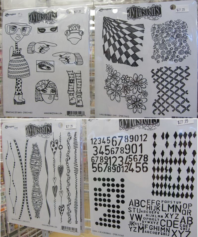 Dylusions stamps