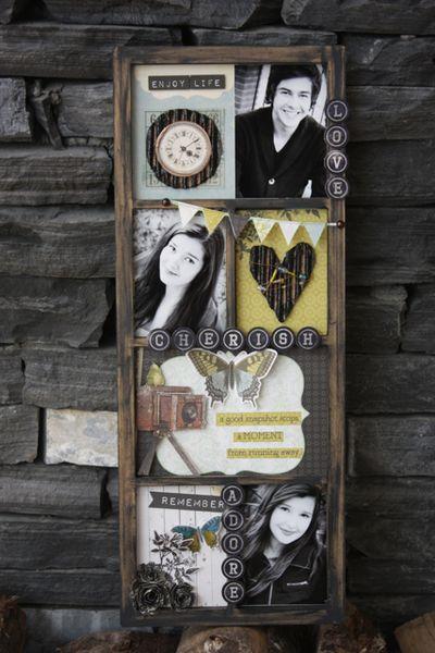 Treasured Memories Family Photo Display Frame by Kelly Klapstein