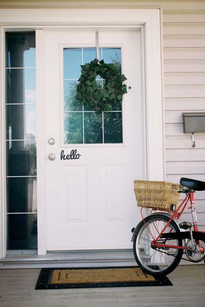 Hello Door sign