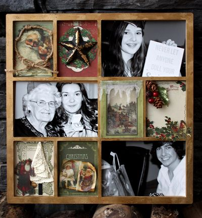 Christmas Photo Display Frame by Kelly Klapstein Nov 2013