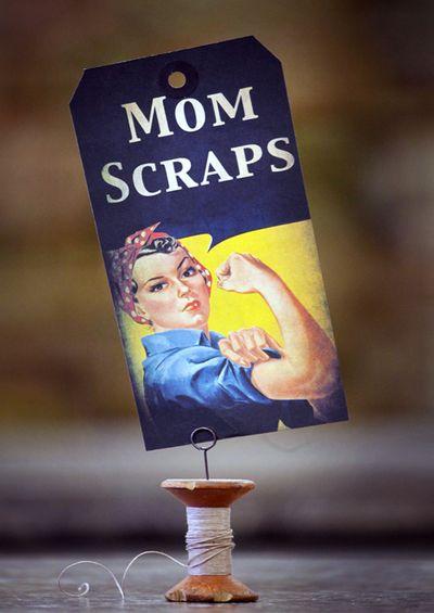 Silhouette Mom Scraps
