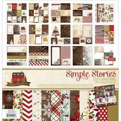 Simple Stories Cozy Christmas Cozy Christmas Collection Kit 12 X12