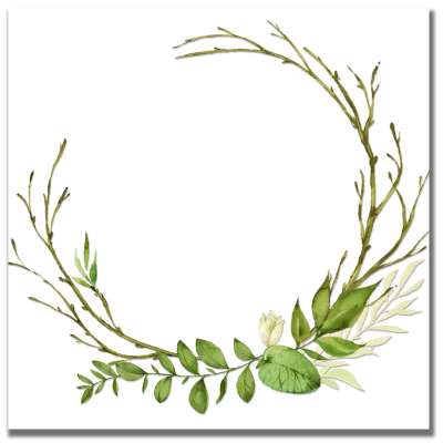 Watercolor Wreath G