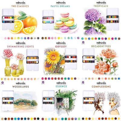 Watercolours All 9 sets