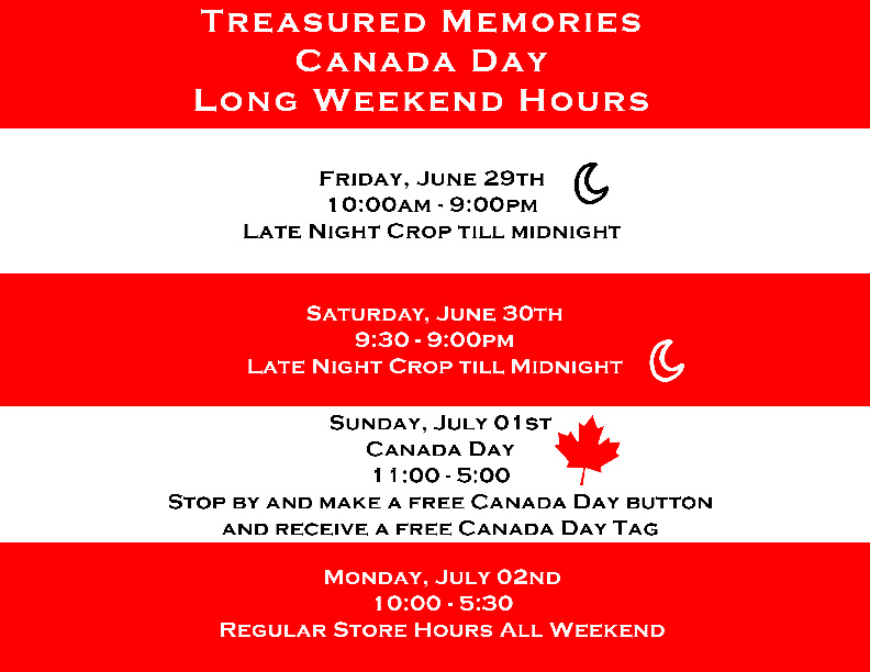 Canada Day Store Hours