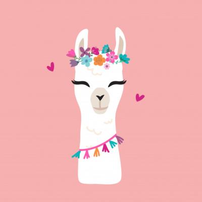 Cute-llama-graphic-with-flower-wreath_1324-285