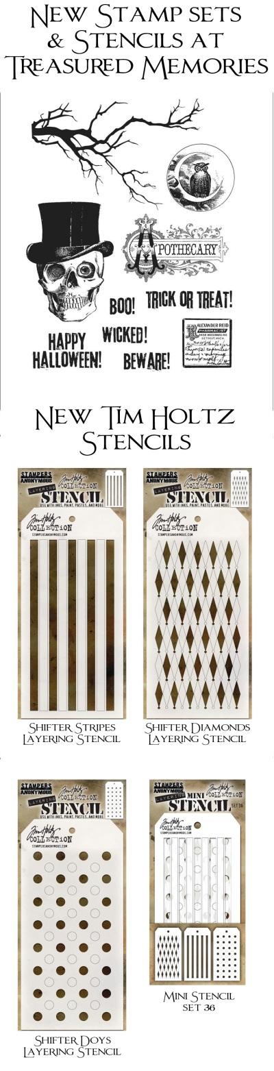 New Tim Holtz Stencils & Stamps
