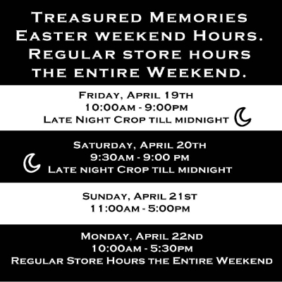 Easter Store Hours