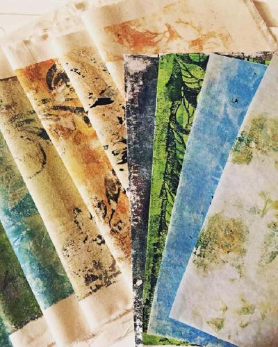 Gel Print Fabric