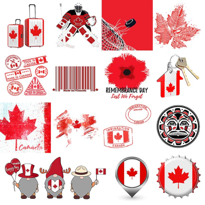 Canada Red and White Collage