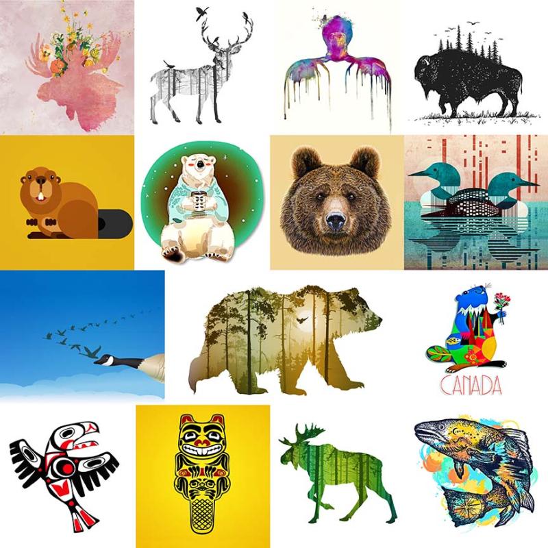 Canadaian Wildlife Collage
