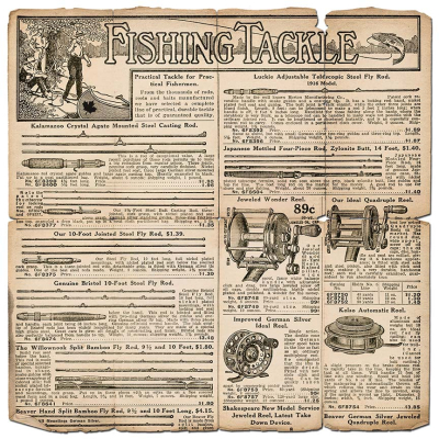 Vintage Fishing Tackle Ad  Page
