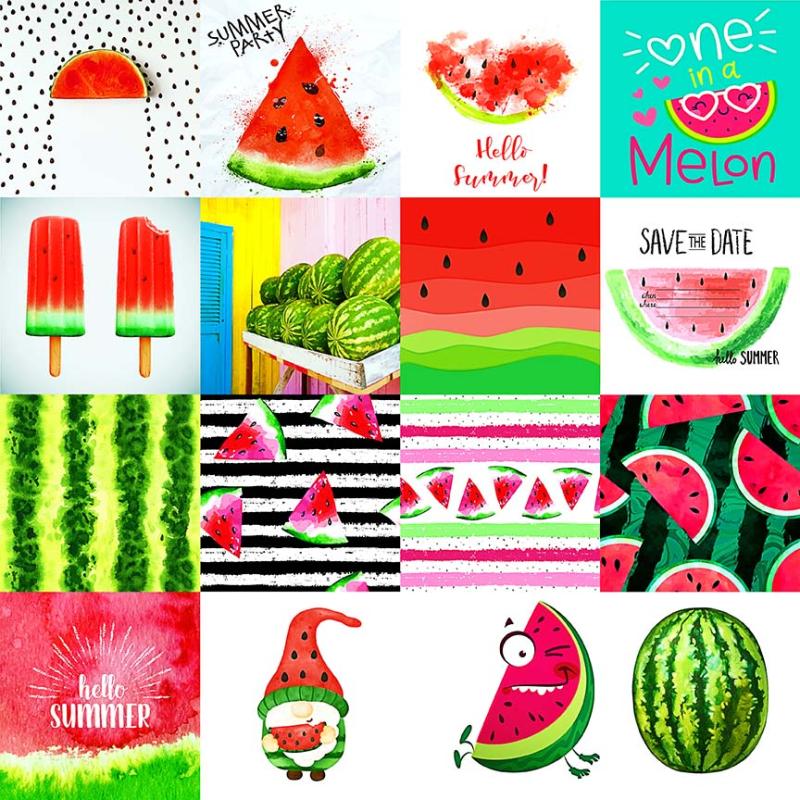 Watermellon Collage