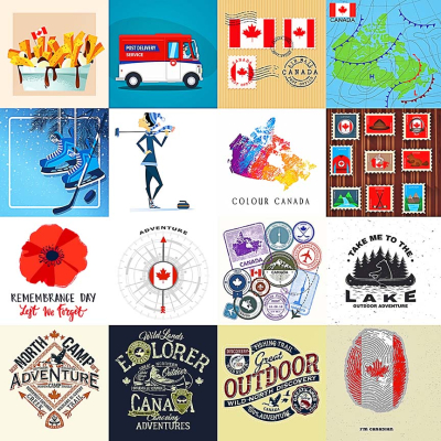 Canadian Collage Sheet