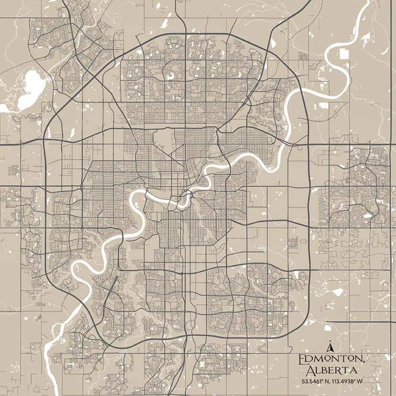 Edmonton City Map